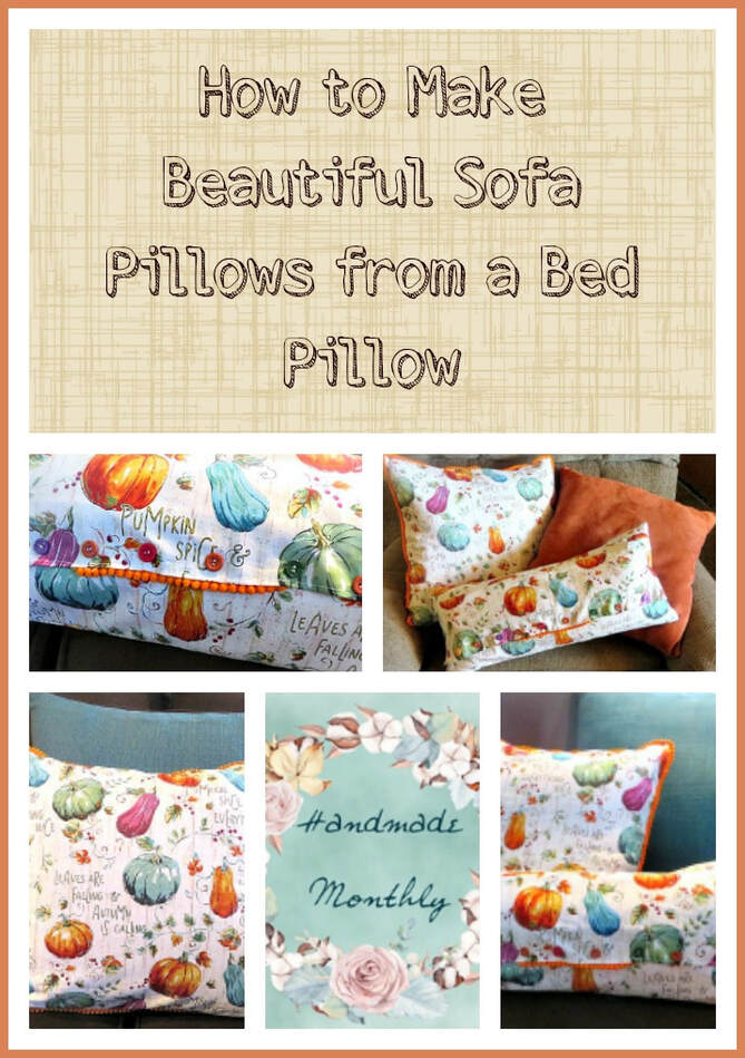 Sofa Pillows From A Bed Pillow