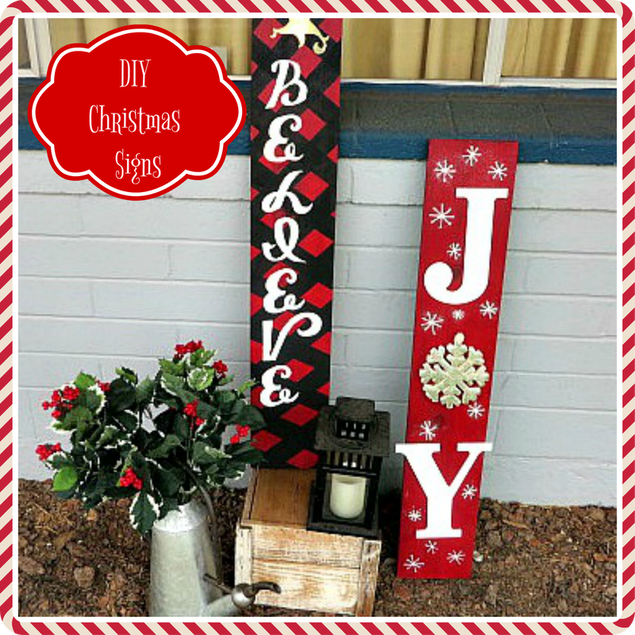 DIY Christmas Word Decorations