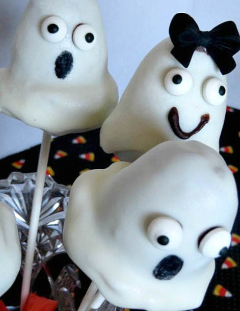 Halloween Pumpkin Brownie Bomb Ghosts