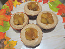 Vegan Caramel Apple Cupcake